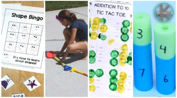 Lots of fun, hands on addition games for kindergartners
