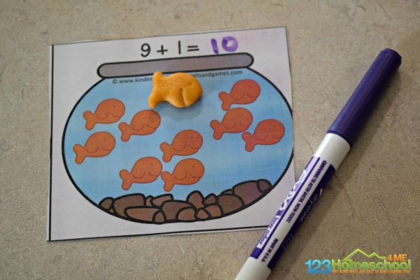 This is such a fun hands on math activity to make addition practice fun