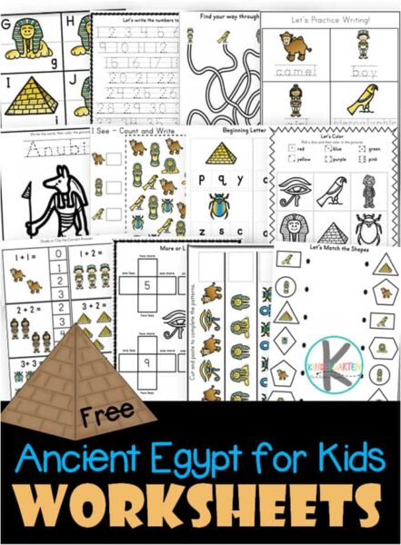 picture relating to Ancient Egypt Printable Worksheets referred to as Totally free Historic Egypt for Small children Worksheets Kindergarten