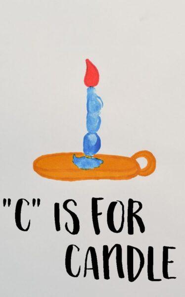 c-is-for-candle-fingerprint-art-project