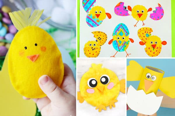 How cute are these chick crafts perfect for April