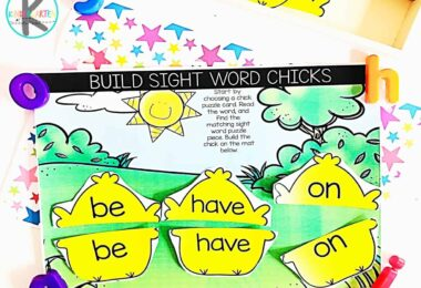 This sight word practice is a great Easter educational activity for Kindergartners