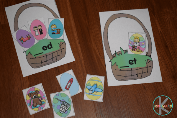 FREE Easter Eggs Word Families Activity
