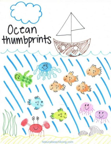 You will love detailed this beautiful o is for ocean fingerprint art is