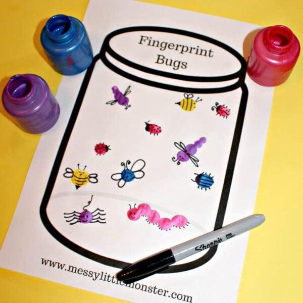 fingerprint-insect-crafts-for-kids