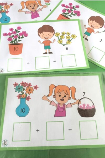 Simple low prep flower addition within 20 activity