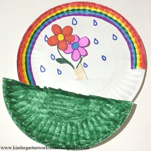 paper plate flower craft for kids