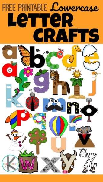 Printable Lowercase Letter Crafts – Kindergarten Worksheets and Games