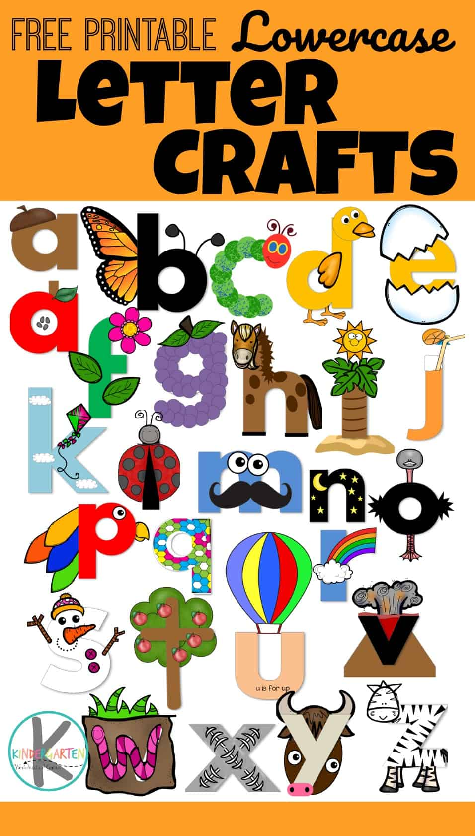 Printable Lowercase Letter Crafts - Kindergarten ...