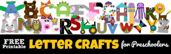 Grab the Free printable uppercase letter crafts for all new crafts