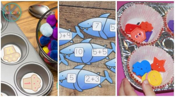 Lots of fun clever ways for kindergartners to practice counting