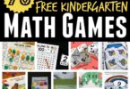 WOW! Over 70 Free Kindergarten Math Games - free printables covering kindergarten math - counting to 100, number recognition, shapes, colors, addition, subtraction, telling time, coins, measurement, skip counting by 2s, 5s, and 10s. #kindergarten #kindergartenmath #mathgames
