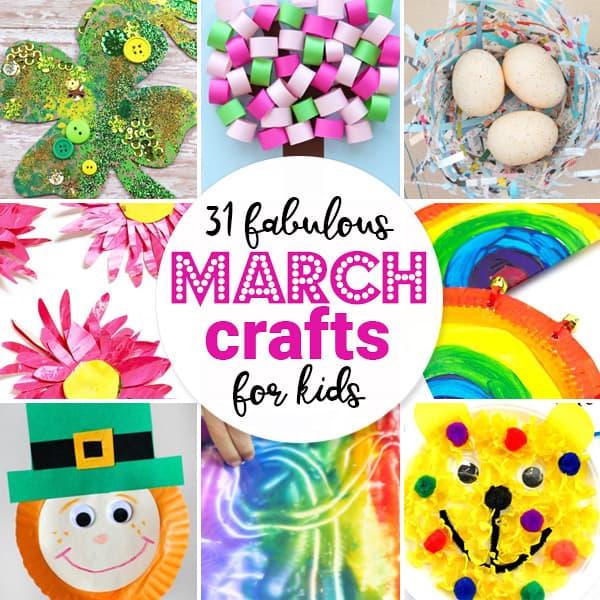 March Crafts For Kids Kindergarten Worksheets And Games