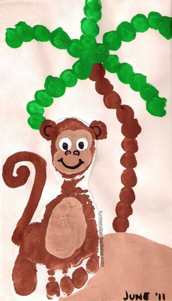 monkey-footprint-craft-for-toddlers