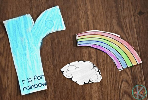 cut out letter r craft for preschool and kindergarten age kids