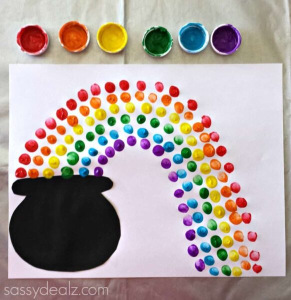 rainbow-finger-print-art-project