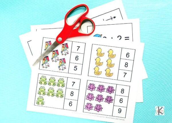 If you are looking for a fun, educational spring activity for kindergarnters you will love these LOW PREP cards.