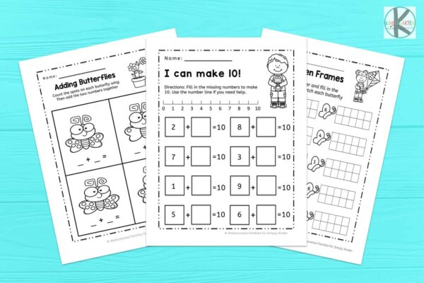 Kindergarten math worksheets for spring