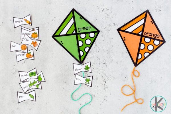 Teaching colors to kindergarten