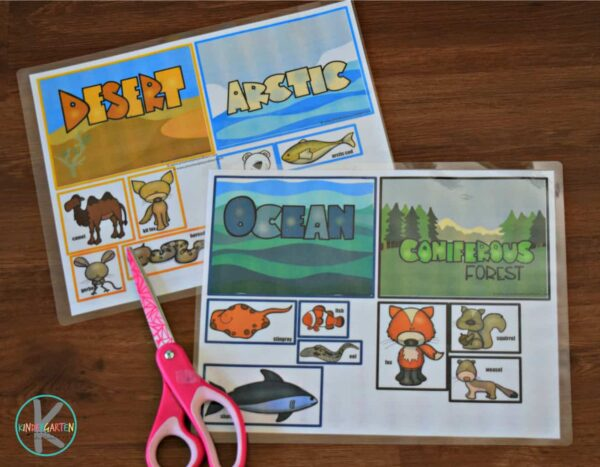 This fun printable activity is a fun way for kids to learn about animals and their habitats