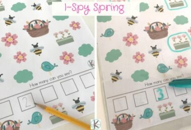 Fun preschool counting activity for spring