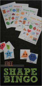 free pritnable shapes bingo game