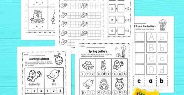 Spring worksheets for kindergartners