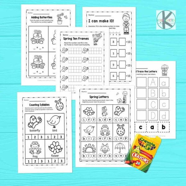 Spring worksheets for kindergartners