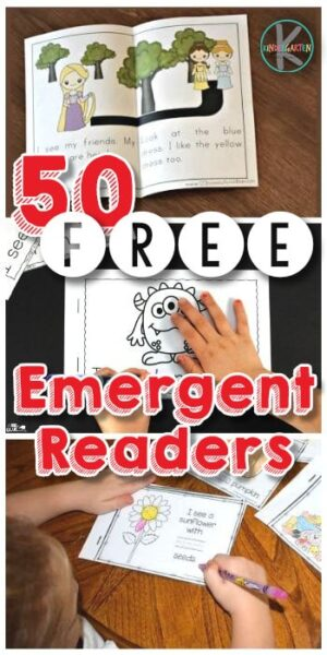 50+ Free Kindergarten Emergent Readers - looking for free printable books to help your kindergarten become a better reader? We've found all the best emergent readers for you to print and be ready to practice reading with kindergartners #kindergarten #emergentreaders #printablebooks