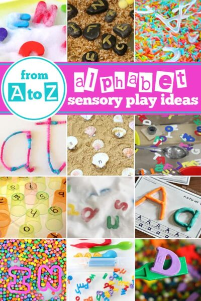 A to Z of the Best Alphabet Sensory Play Ideas - so many fun creative sensory bins, alphabet activities, and abc games for toddler, preschool, and kindergarten age kids #preschool #kindergarten #alphabet