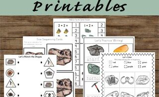 LOW PREP paleontologist worksheets