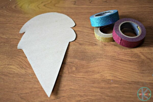 Cut an ice cream shape out of recycled cardboard art
