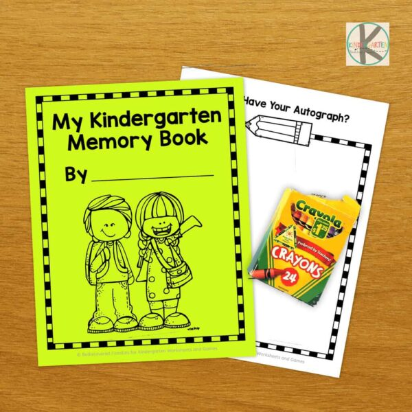 photo relating to Free Printable Memory Book Pages titled Cost-free Kindergarten Memory Ebook Kindergarten Worksheets and