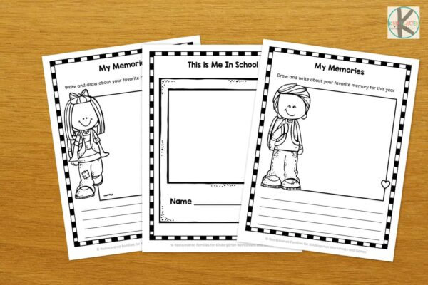 End of the year worksheets for prek, kindergarten age kids