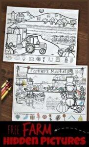 Farm hidden pictures printable