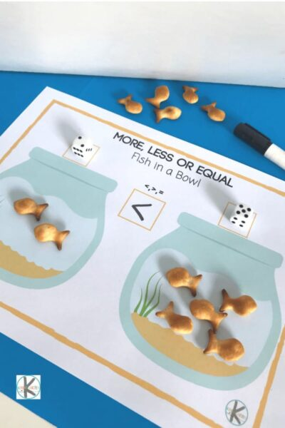 super cute fish cracker printable to help kids practice math