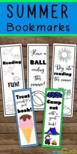 summer free printable bookmarks