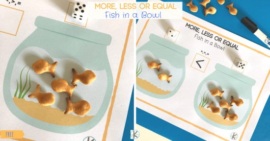 FREE Goldfish Math Activity