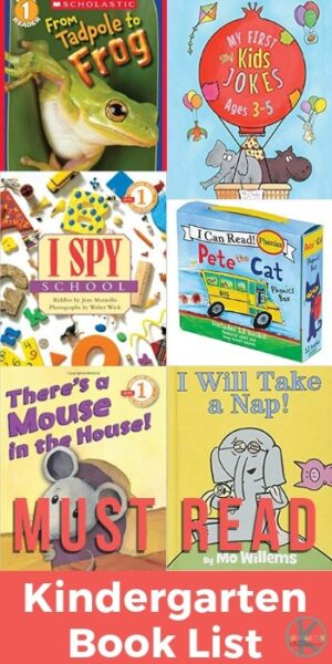 Kindergarten Book List Essentials - books by reading level for your kindergarten book recommendations #kindergarten #booklists