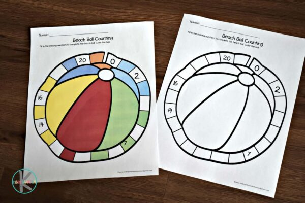print these kindergarten worksheets in color or black and white for some fun summer learning