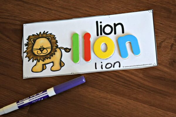laminate the animal cards and you can practice writing a to z animals using dry erase markers