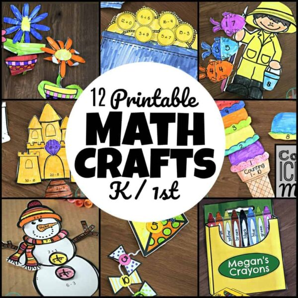 12 math crafts for pre k and kindergarten age students