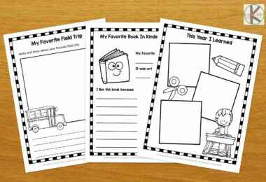 super cute free pintable school memory pages