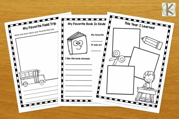 photo regarding Free Printable Memory Book Pages called Free of charge Kindergarten Memory Ebook Kindergarten Worksheets and