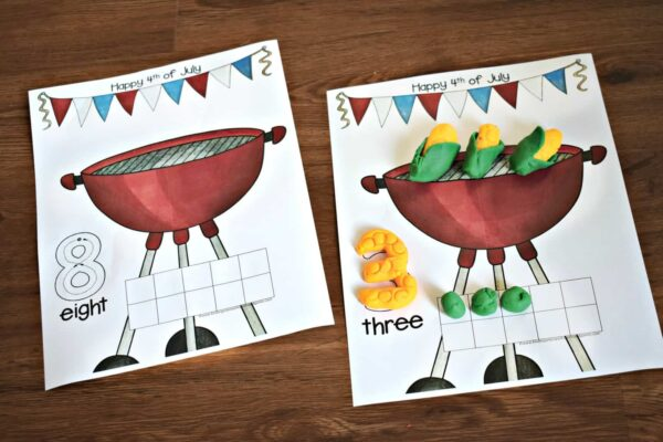 Fun, hands-on 4th of July counting activity for kids