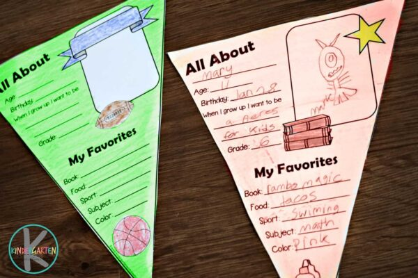 Super cute all about me preschool printable perfect for the 1st day of school