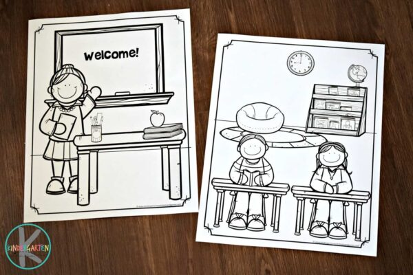 Kids will love these NO PREP back to school coloring activity