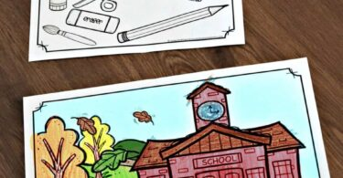 Super cute back to school coloring sheets for prek, preschoolers, and kindergartners
