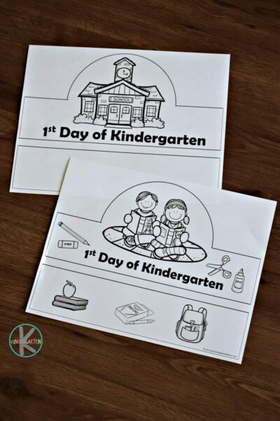 Kids will have fun making this back to school craft on their first day of Kindergarten