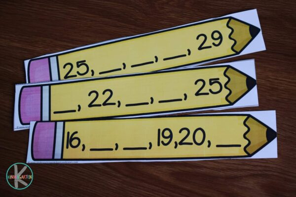 This back to school printable is a fun way to work on kindergarten counting